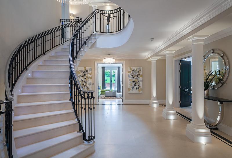 лестница фен-шуй изогнутая