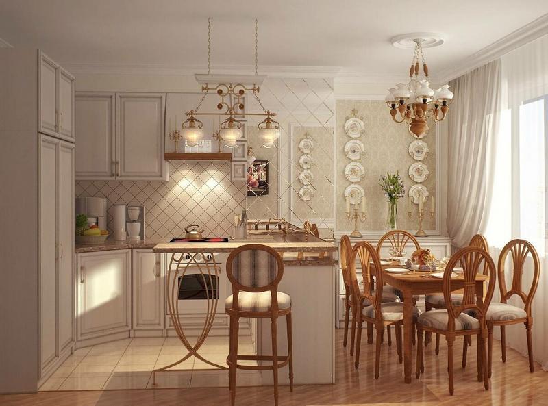 Освещение на кухне по фен-шуй