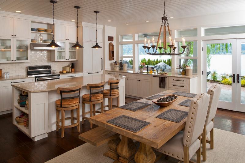 Приглушенный белый цвет на кухне