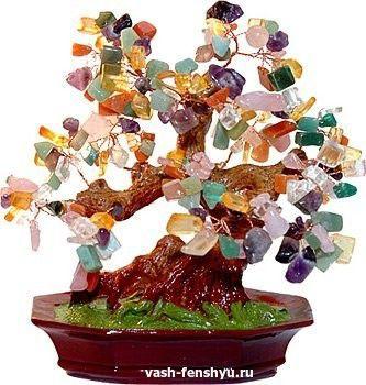 фен шуй кристаллы дерево
