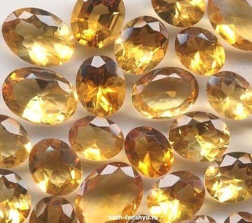 кристалл фен шуй цитрин