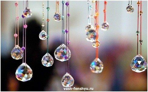 кристаллы фен шуй подвески