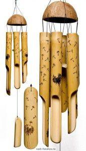 музыка ветра колокольчики фен шуй бамбук