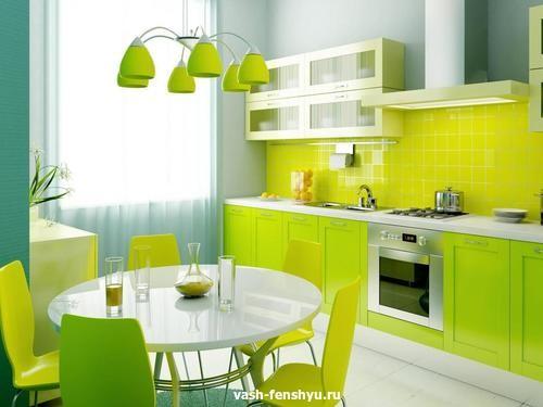 освещение фен шуй кухня