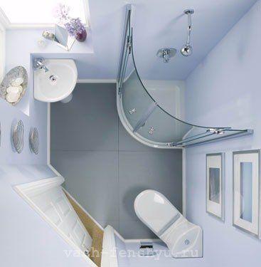 фен шуй в маленькой ванной комнате