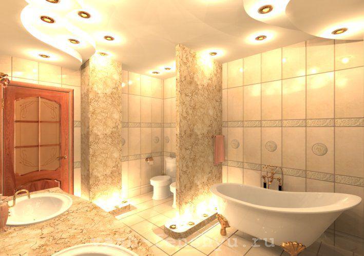 фен шуй ванной  комнаты пастельные тона