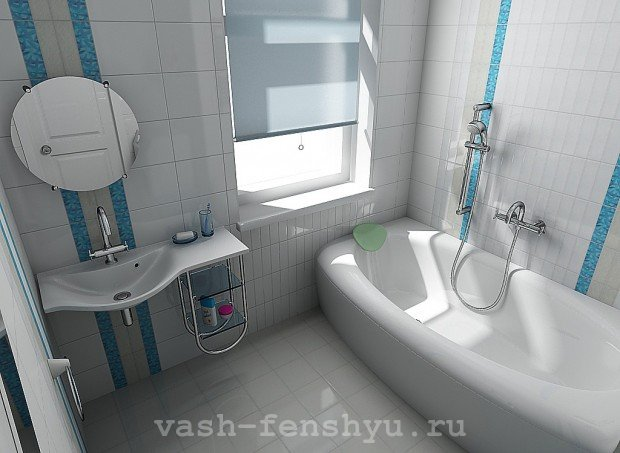 ванная комната по фен шуй белая