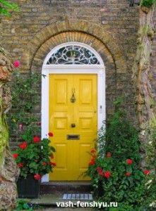 входной двери желтая