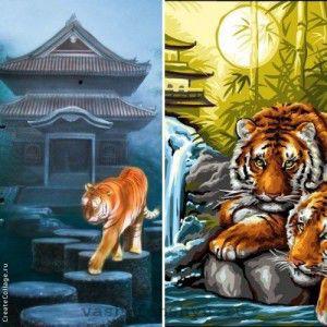 пагода фен шуй с тигром