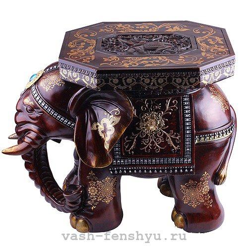 слон по фен шуй опущенный хобот
