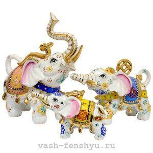 слон по фен шуй три