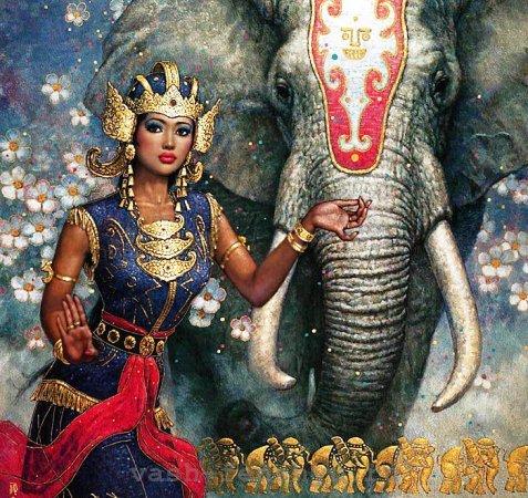 слон по фен шуй восток