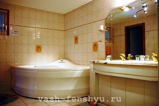 фен шуй зона богатства ванная