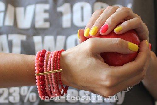 фен шуй ногти желтый