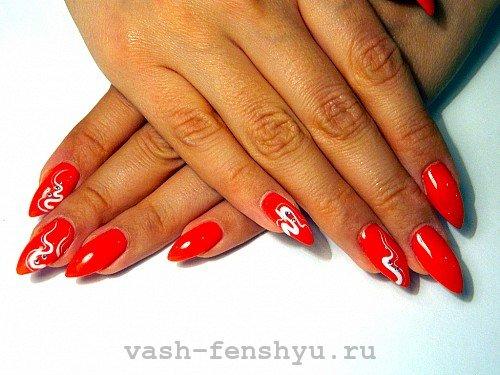 красные ногти фен шуй