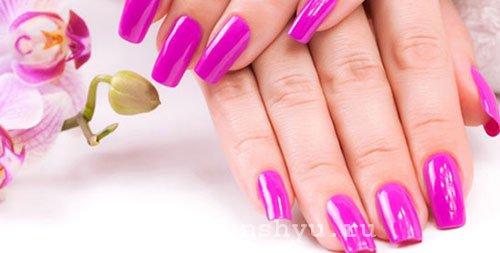 окрашивание ногтей фен шуй фиолетовый