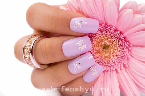 окрашивание ногтей лиловый