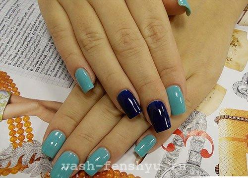 окрашивание ногтей по фен шуй голубой