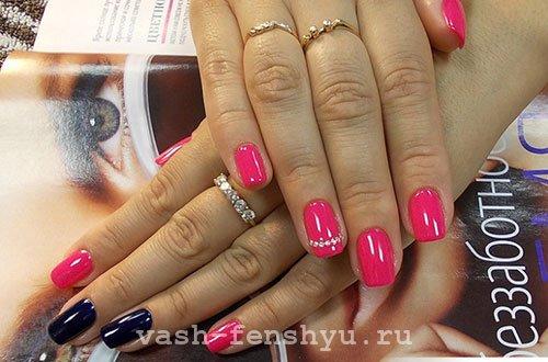 окрашивание ногтей розовый