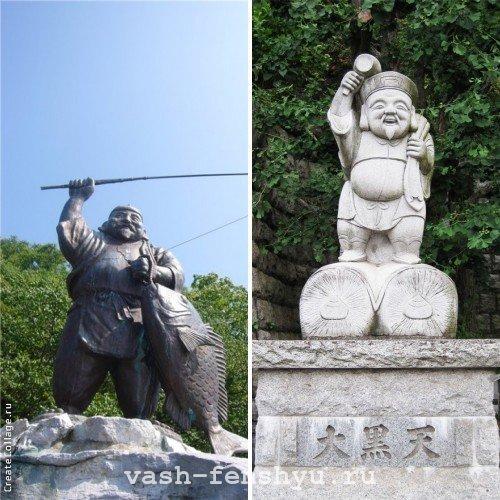дайкоку и эбису уличные статуи