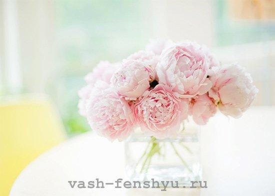 ваза с пионами фен шуй