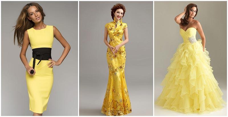 Что одеть на новый год - желтый