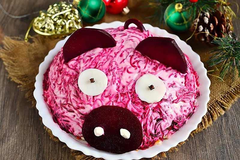 """Как встречать новый год - салат """"Свинья"""""""