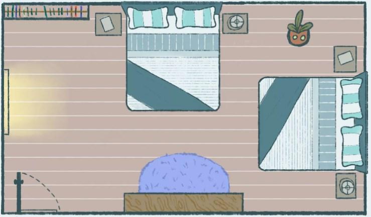 командное положение кровати по фен-шуй