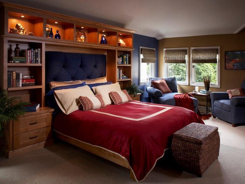 кровать расположение изголовья к шкафу