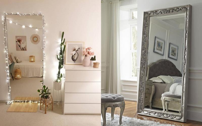 расположение зеркала возле кровати