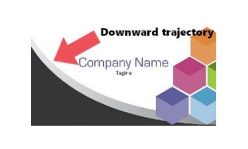 символ нисходящей и упадка компании