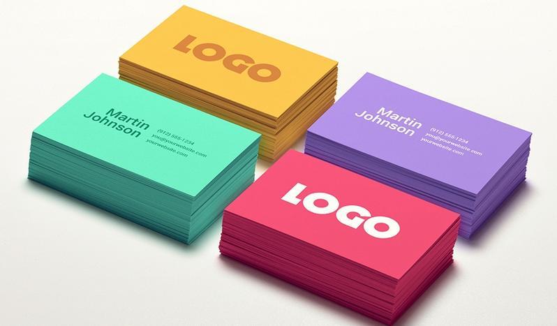 сочетания цветов для визиток