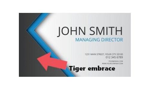 визитка объятия тигра