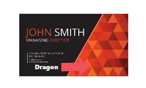 визитка с сильным присутствием Дракона